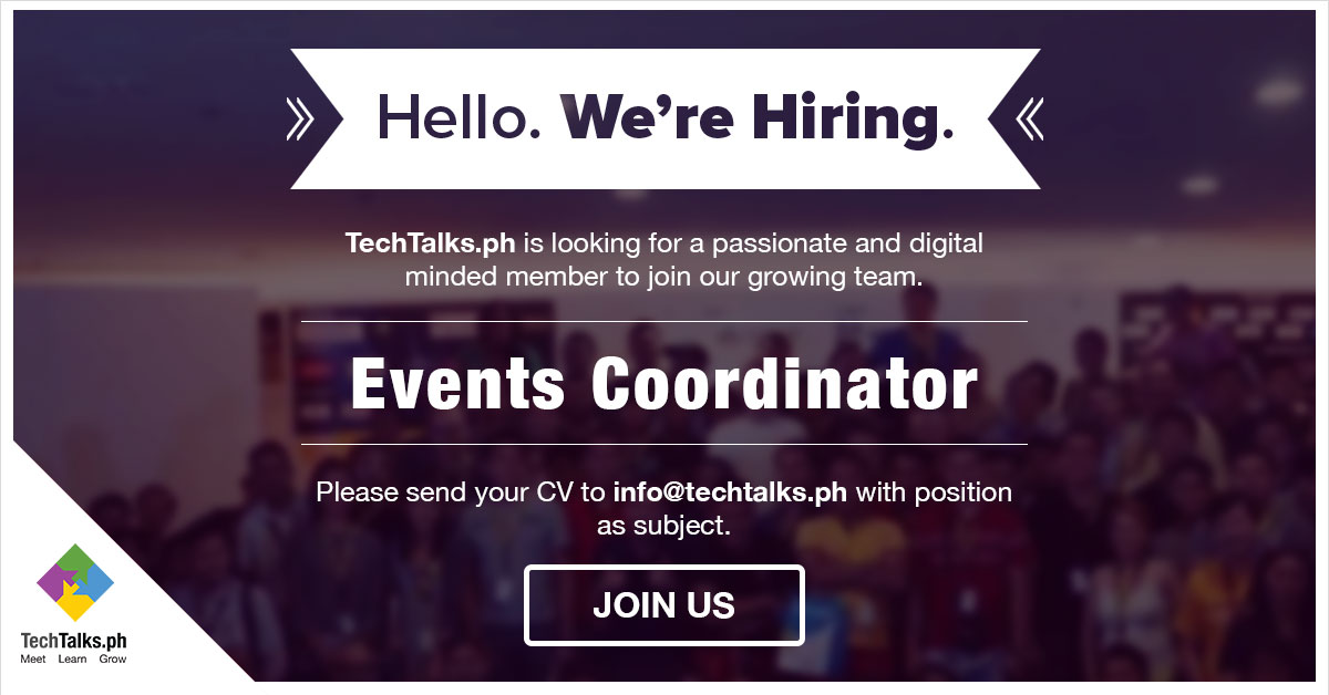 TechTalks.ph Events Coordinator